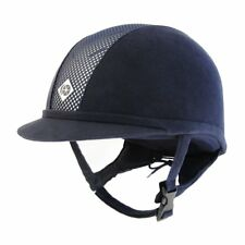 Charles Owen Ayr8 Unisex Safety Wear Riding Hat - Midnight Blue Silver All Sizes