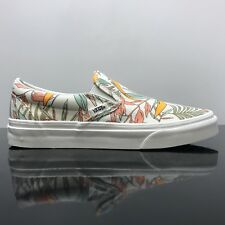 VANS CLASSIC SLIP ON CALIFORNIA FLORAL MARSHMALLOW TRAINERS