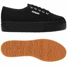 SUPERGA 2790 zeppa 4cm Scarpe DONNA 2790ACOTW LINEA UP AND DOWN acotw Nero 996ag