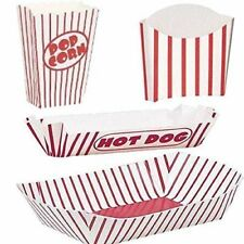 Cinema Night, Movie night, Carnival, Fayre,circus popcorn pizza chips bags box