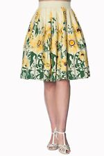 Women's Sunflower Vintage Retro 50's Style Rockabilly Skirt By Banned Apparel