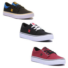 DC Shoes Trase Tx Junior Canvas Black Red Trainers