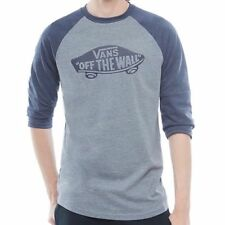 VANS OTW RAGLAN LS T SHIRT HEATHER GREY HEATHER NAVY