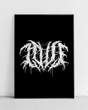 LOVE Print! Heavy Metal Font Poster! black metal lettering, Gothic, grind,