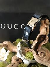 Gucci Dog Collar GG Embossed Leather Logo Microguccissima Made in ITALY