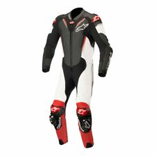 Alpinestars Leather Atem V3 Motorcycle Motorbike 1 Piece Suit Black/White/Red