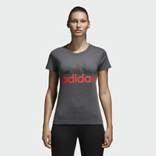 T-SHIRT ADIDAS ORIGINALS CF8819 ESSENTIAL LINEAR MODA DONNA FASHION DARK GREY
