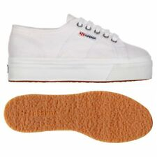 SUPERGA 2790 zeppa 4cm Scarpe DONNA ACOTW up and down Bianco Prv/Est New 901byvb