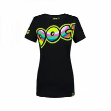 VR46 Valentino Rossi MotoGP Womens The Doctor Motorcycle Bike T-shirt - Black