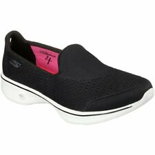 Skechers Gowalk 4 Pursuit Femmes Chaussures Mocassins - Black White