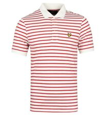Lyle & Scott Racing Red Breton Stripe Polo Shirt