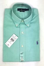 POLO RALPH LAUREN MENS GENUNE NEW GREEN SLIM FIT COTTON OXFORD SHIRTS ALL SIZES