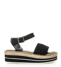 SixtySeven - Sandali neri in pelle Nerys - Altezza plateau: 5cm- Donna