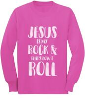 Jesus Is My Rock & That's How I Roll Christian Toddler/Kids Long sleeve T-Shirt