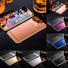 Colored Mirror Tempered Glass Film Screen Protector for iPhone 6 6S 7 Plus high