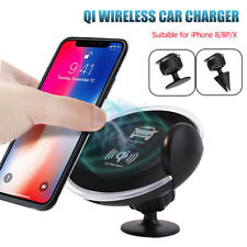FDGAO Qi Wireless Car Charger Mount Holder For iPhone X For Samsung S8+ Note 8 5