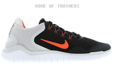 Nike Free RN Black Total Crimson Vast Grey Men's Trainers All Sizes