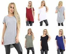 Women Oversized Baggy Loose Fit Batwing Sleeveless Ladies Round Neck T-Shirt Top