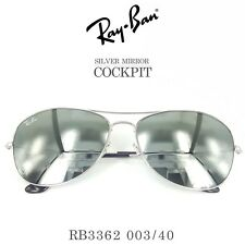 Authentic Ray-Ban COCKPIT RB3362 003/40 59 Mirror Sunglasses