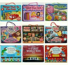 Activity Carry Packs: sticker, puzzle, For Children/Kids Age 5-10 Year, New