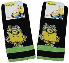 Mens 2 PAIRS SOCKS Despicable Me Minions Novelty Fathers Day Gift 6-11 Adult