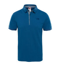 The North Face - Polo in piquet blu Premium Uomo