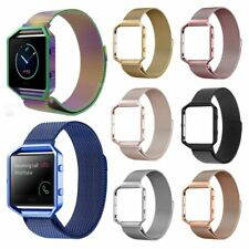 Milanese Stainless Steel Strap Wrist Band + Metal Frame For Fitbit Blaze Watch