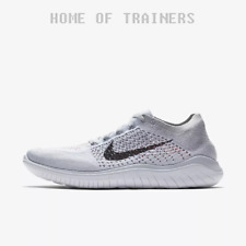 Nike Free RN Flyknit 2018 Pure Platinum White Wolf Grey Black Men's Trainers