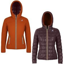 K-WAY Imbottita reverse giacca DONNA CAPPUCCIO LILY THERMO PLUS DOUBLE KWAY 985g