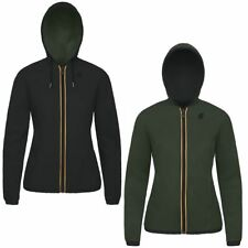 K-WAY giacca DONNA leggera CAPPUCCIO reverse KWAY LILY KL AIR DOUBLE PELLE 947ah