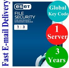 ESET File Security for Windows Server  3 Years (Unique Global Key Code) 2018