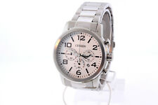 Men's Citizen AN8050-51A Stainless Steel White Chronograph Dial Date Watch