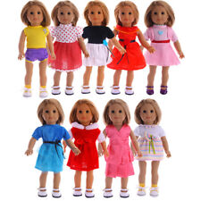Doll Dress Clothes For 18 Inch American Girl Doll 43cm Baby Born Zapf Dolls @