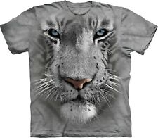 White Tiger Face Big Cats T Shirt Child Unisex The Mountain