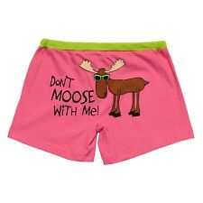 LazyOne Junior Womens Don't Moose with Me PJ Boxers