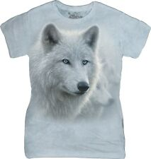 The Mountain Donna Adulto White Out Wolves Maglietta