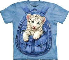 Mountain Maglietta Backpack White Tiger Big Cats Bambino