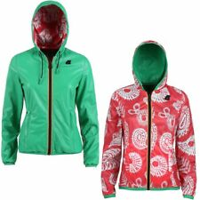K-WAY reverse giacca DONNA leggera CAPPUCCIO LILY KL AIR DOUBLE KWAY PELLE 917cd