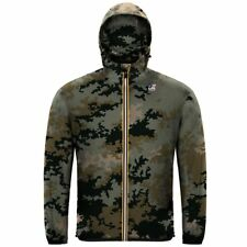 K-WAY LE VRAI 3.0 CLAUDE GRAPHIC GIACCA UOMO CAPPUCCIO KWAY Camouflage New 900gy