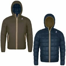 K-WAY JACQUES THERMO PLUS DOUBLE Imbottita reverse giacca UOMO KWAY Marrone 981b