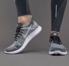 Nike Free RN Run Flyknit 2017 Men's Running Shoes Black/White 880843 003