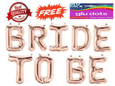 """BRIDE TO BE Rose Gold Balloons 16"""" inch Foil Balloons Wedding Party Banner  AIR"""