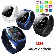 New M26 Bluetooth Smart Wrist Watch Phone Mate For IOS Android iPhone Samsung
