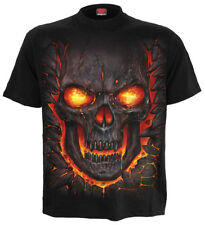 SPIRAL DIRECT NEW SKULL LAVA T-Shirt/Tattoo/Skull/Goth/Flames/Rock/Reaper/Top