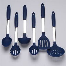 Cooking Utensils Set Stainless Steel & Silicone Tools Ladle Spoon Spatula Mix