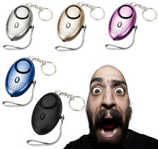5 Colors Personal Alarm Keychain 130dB SOS Emergency Self Defense Safety Alarms