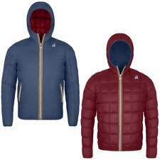 K-WAY JACQUES THERMO PLUS DOUBLE Imbottita reverse giacca UOMO KWAY Blu 933jhbhl