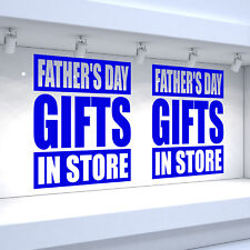 2 x FATHER'S DAY GIFTS IN STORE Shop Window Vinyl Stickers Retail Decals
