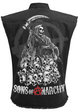 OFFICIAL LICENSED SPIRAL SONS OF ANARCHY- REAPER SKULLS- Worker/Logo/Jax/Top