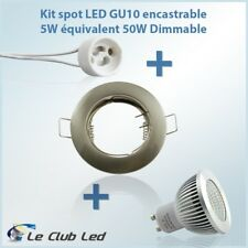 Kit Spot LED GU10 5W COB équivalent 50W Dimmable